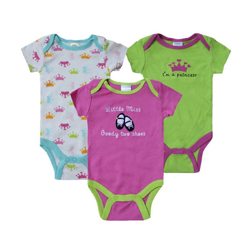 Buy 3Pcs Lot Summer Vetement Body Bebes Menino Roupas Infantil Carters Baby Girl Boy Bodysuits 1st Birthday Next Clothing Set J3 18 In Cheap Price On