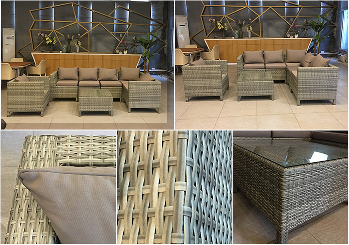 Contemporary used foshan manufacturer wholesale Italian European outdoor rattan furniture