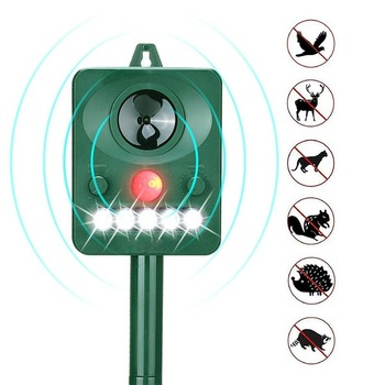 Outdoor Sound wave Solar Ultrasonic Bird Dog Repeller