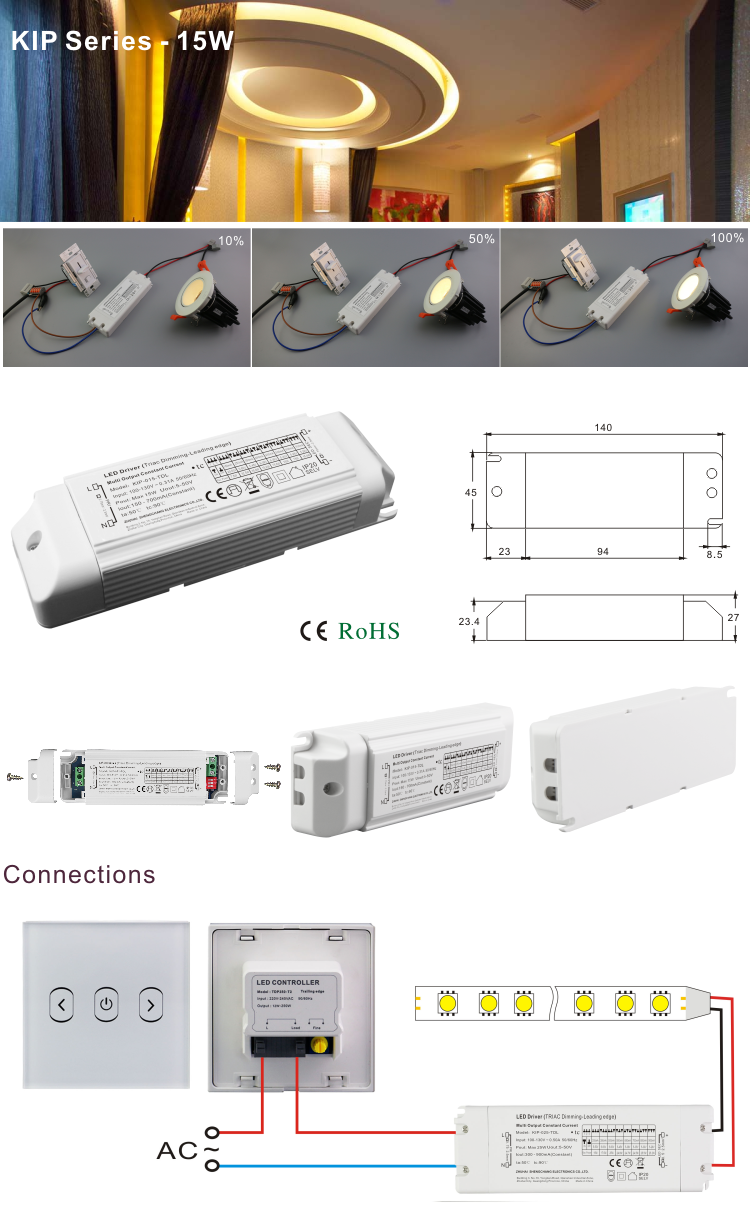 15w Triac Dimmable Led Driver Be
