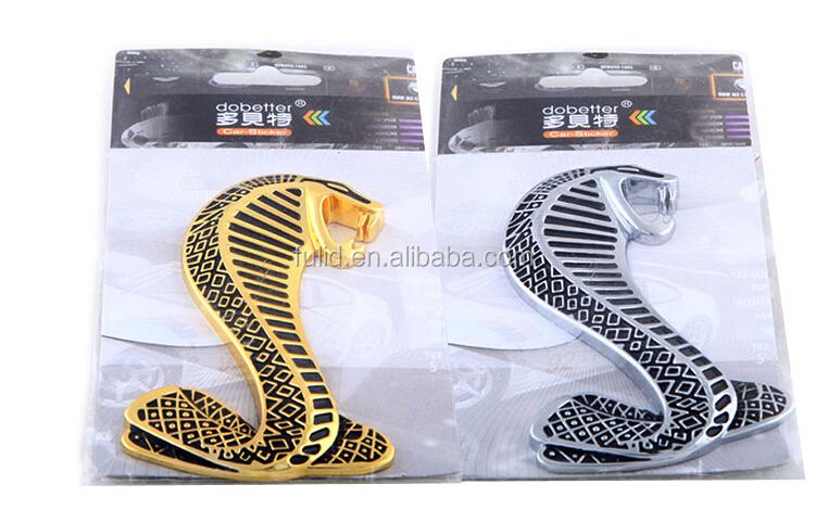 Metal 3d snake chrome anto stickers chrome auto sticker auto emblem