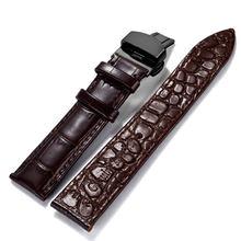 12, 14, 16, 18, 20, 22, 24 мм кожи; цвет черный, темно-коричневый розовый белый классический Аллигатор ремешок для наручных часов ремень для Rolex Omega IWC(Китай)