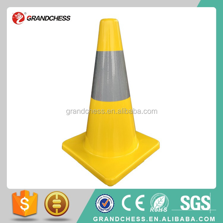 "18 inch one piece deisng Colorful one piece Reflective 18"" PVC safe cone"