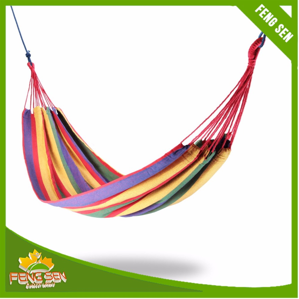 Wholesale Best selling Popular OEM Custom Canvas Suspended Hanging Camping Hammock
