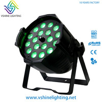 Wholesale led light bar event stage uplight 18x18w rgbwa uv 6in1 zoom led par can light for wedding