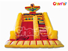 Yellow and Red Inflatable Eagle Dry Slide with Climbing for Commercial Party Use