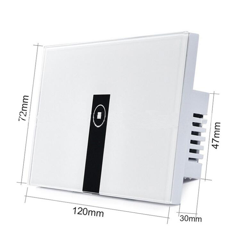 Gorelax Smart Home Automation Module Wireless Wifi Remote Control Wall  Light Touch Switch 2 gang with Crystal Glass Panel 10A