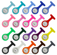 Customize Silicone Nurse Watch/Nurse Fob Watch/Wholesale Nurse Pin Watch