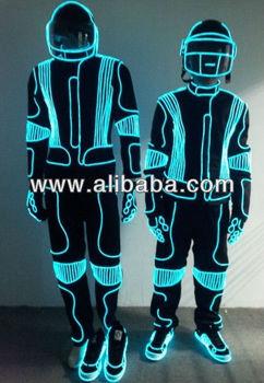 El Wire Dance Costume; Led Robot Suits; Led Dance Suit - Buy Tron ...