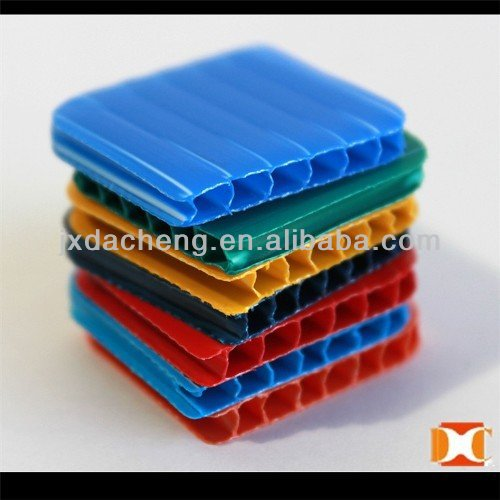 Extruded twin-wall polypropylene pp 4*8 coroplast sheet/board