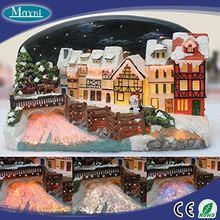 Gingerbread house natal <span class=keywords><strong>serat</strong></span> <span class=keywords><strong>optik</strong></span> lampu natal