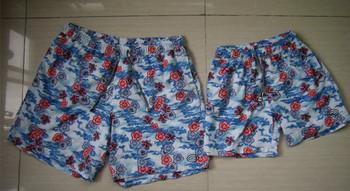 Nuovo stampato i pantaloncini da bagno per padre e figlio stampa a
