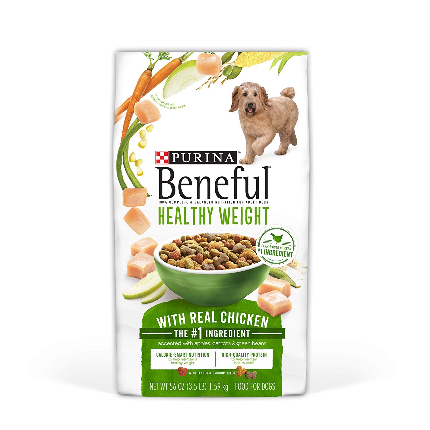 Purina Beneful Healthy Weight with Real Chicken Adult Dry Dog Food - Four (4) 3.5 lb. Bags