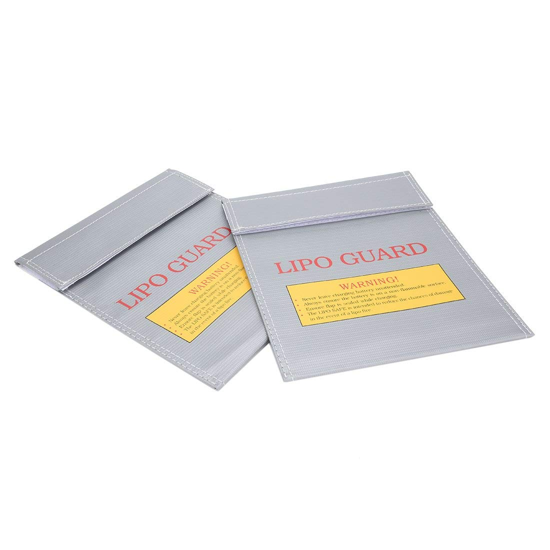 uxcell 2pcs Fireproof RC Lipo Battery Storage Charging Safe Bag Pouch Sack Lipo Battery Guard Silver 180mmx230mm Large