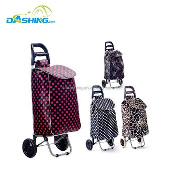 Shopping Trolley cart Folding shopping trolley bag with 2 wheels foldable shopping  bag market 5e6471dabd