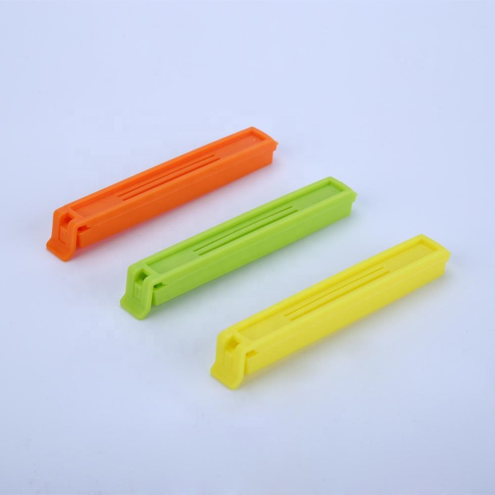 Hot selling rechthoekige plastic voedsel zak clip, brood chip zak afdichting clip