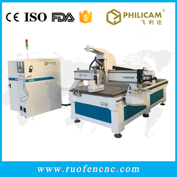 Philicam 9kw spindle cnc router wooden furniture door making machine