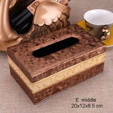 ПУ Узорчатая коробка для салфеток прямоугольная настольная органайзер для хранения салфеток для лица бумажная салфетка держатель для Поло...(Китай)