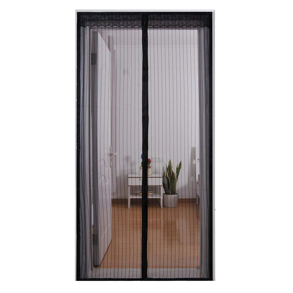 Wgwioo Magnetic Screen Door Keep Out Mosquitoes Or Insects Mesh Screen And Full Frame Velcro For Bedroom Living Room,Black,3980