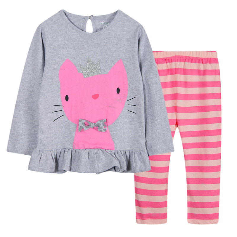 Cotton roupas  meninos Pullover Girls Clothing Sets Summer Active Girls Winter Clothes Autumn 2015 Girls Tracksuit Autumn