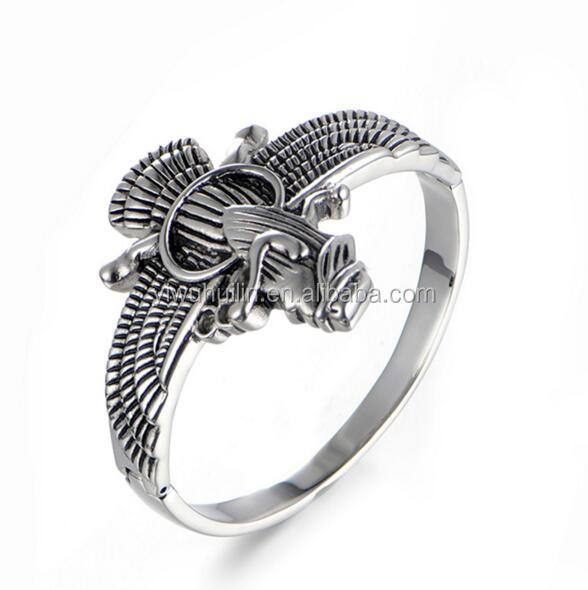 JZY004 Huilin Jewelry Gothic style animal bracelet Stainless Steel Dragon Eagle Vintage Viking Cuff Bangle For Men