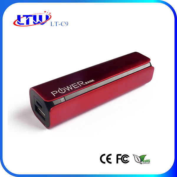 Super High Quality , Super Hot, Super Small, Metal RoHS Power Bank 2600