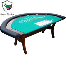 Profesional 8 Pemain Mewah Kayu Solid Blackjack Kasino Gaming Table