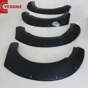 YCSUNZ ABS Smooth Matte Black Fender Flare For Mazda BT50 2012-2015 Car Pocket Riveted Fender Flares Auto Parts