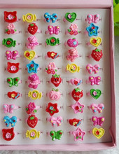 yiwu b Cluster Color ring,cartoon kids plastic finger ring, colorful children acrylice ring