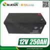 Bluesun maintenance free sealed gel battery 12v 250ah for solar inverter