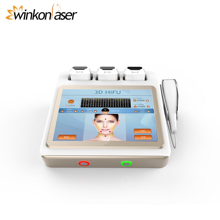 Winkonlaser Excellent Ce Korea Hifu Doublo 3D Face Lift Cartridge Hifu  Ultrasound Skin Tighten Machine