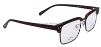 new design TR90 half frame +metal rim optical glasses frames eyewear