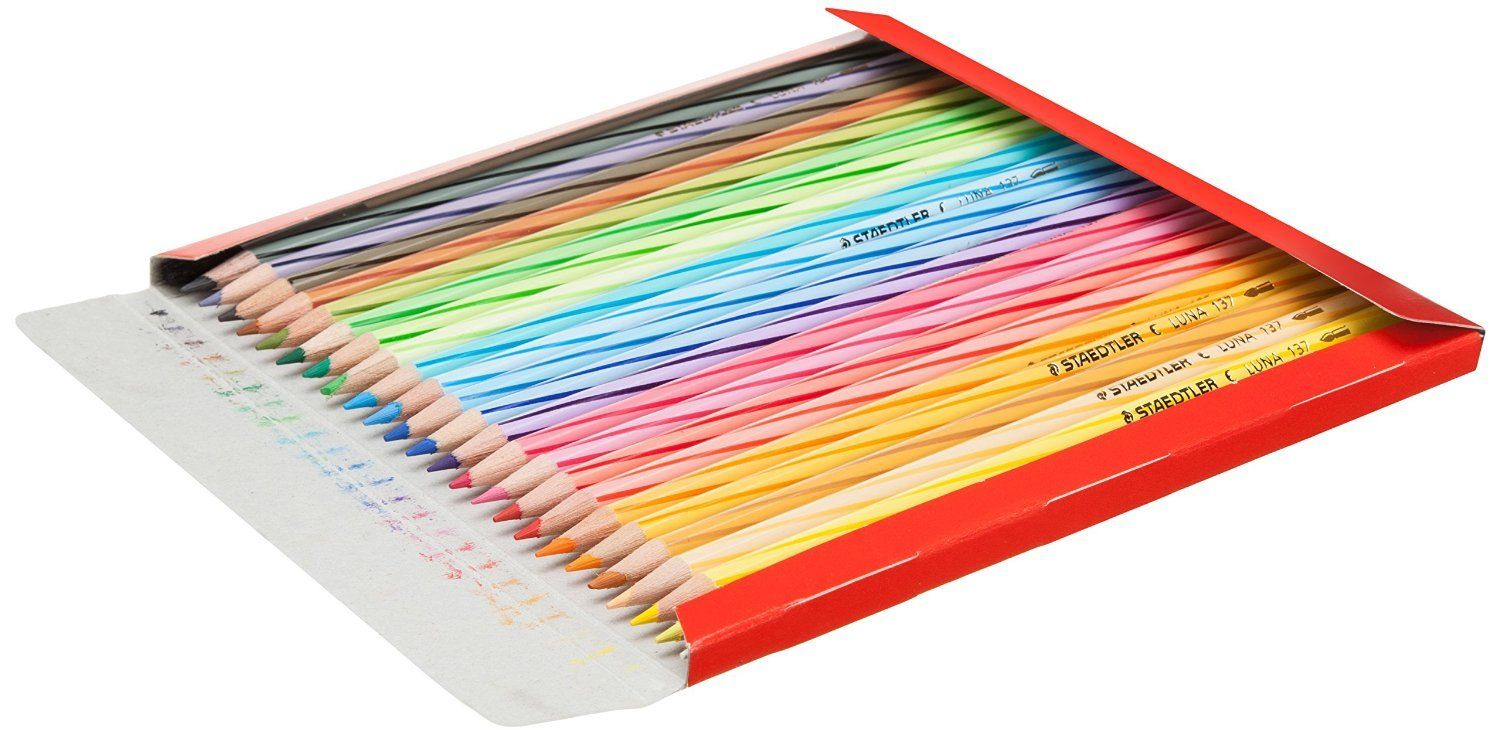 Staedtler Set of 48 Water Colour Pencils Colorful Drawing ...