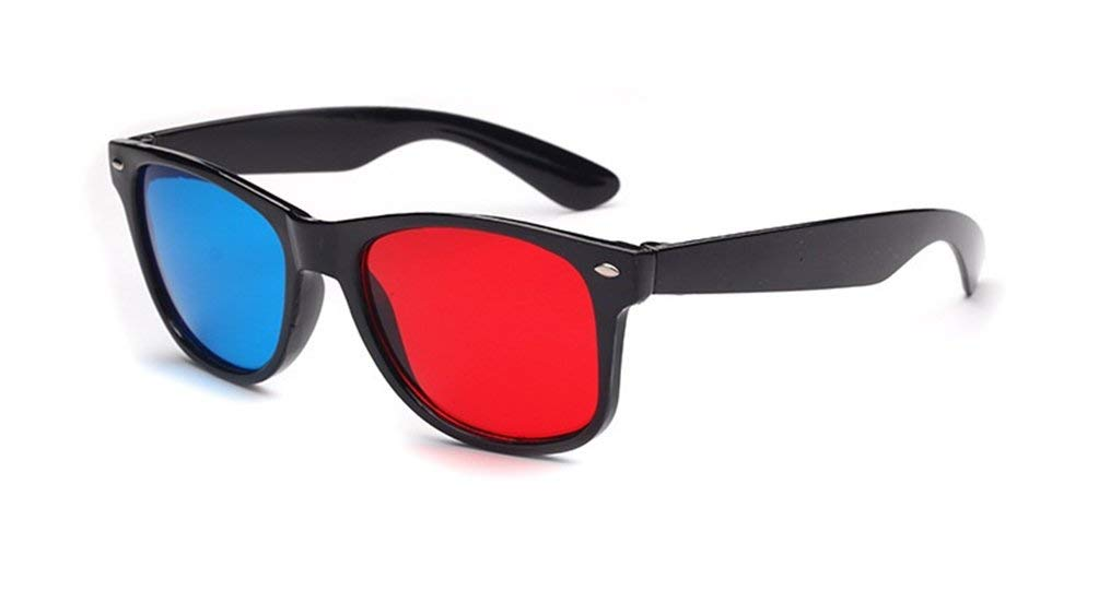 Glasses Direct-3D Glasses -3D Vision Ultimate Anaglyph 3D Glasses - Made To Fit Over Prescription Glasses-YYBS
