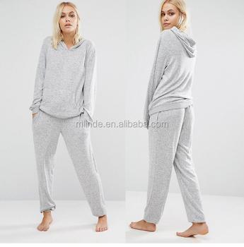8187cc6934 Adult Christmas Slouchy Top   Trousers Pyjama Set for Winter Fashion Women  Casual Warm Sleepwear Pajamas