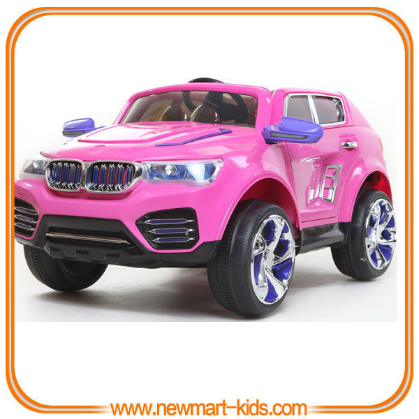 lovely pink kids ride on car battery operated kids electric car