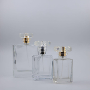 professional factory cosmetic perfume 30ml 50ml 100ml square pump sprayer glass bottles