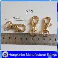 Hongxinbo Manufacturing handbag zinc alloy swivel snap trigger clip hook