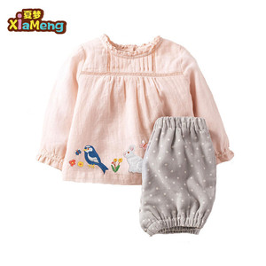 toddler bunny applique long sleeve pink baby girls easter outfits