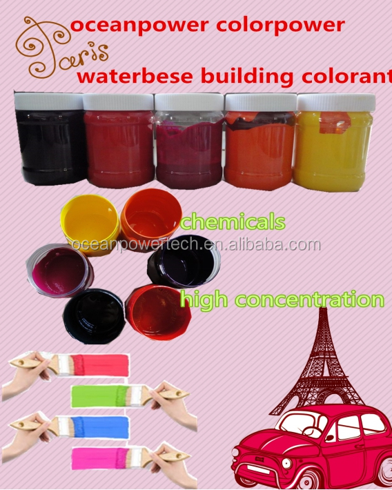 Weather-fastness water based colored paint / pigment paste / colorant also for emulsion