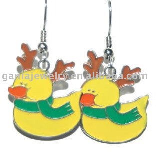 Fashion Christmas Jewelry, Christmas Reindeer Duck Earring