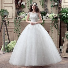 2018 Cheap Modern Style and Bride ball gown white wedding dresses for civil Wedding