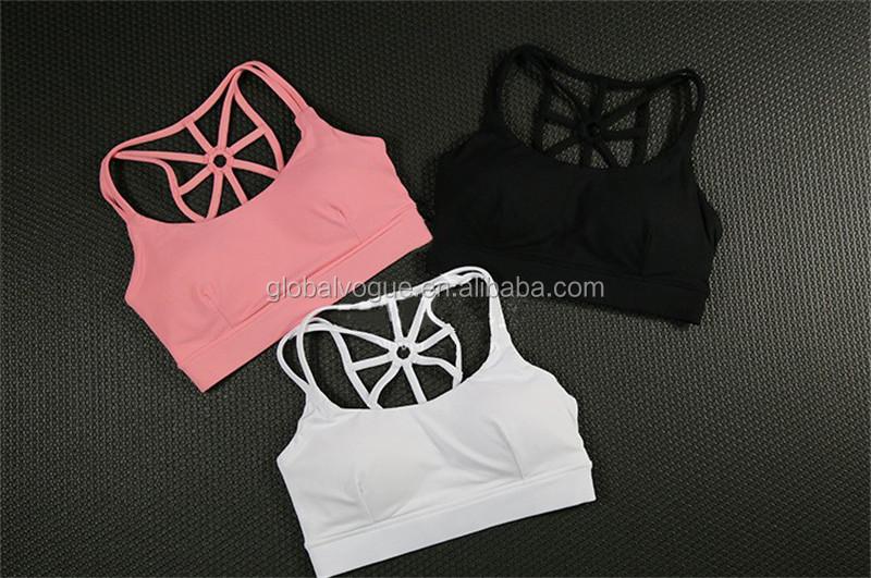 dd95c1c51c914 Women Strappy Open-back Sport Bra Free High Strength Nylon Bra Factory  Direct Shockproof No