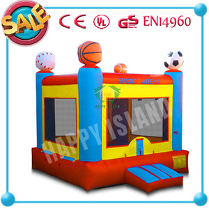 HI CE new design football inflatable outdoor bouncer baby bouncer rocking toy