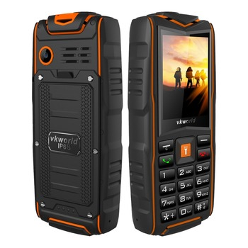 2.4inch Cheapest ip68 waterproof rugged feature phone 2G VKWORLD New v3 3 sim card 3000mAh big battery FM IP68 SOS phone