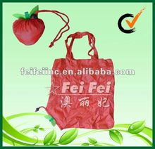 Big Red Apple Shaped Foldable Polyester Shopping Bag
