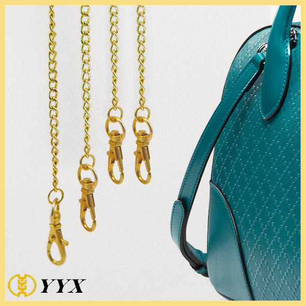 shiny golden alloy handbag fasteners metal chain for handbag