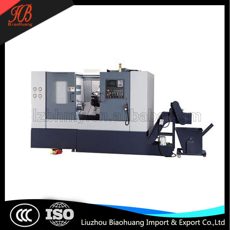 Slant Bed CNC Lathe Machine used for processing various shaft/disk parts.