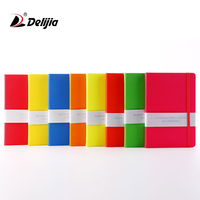 Wholesale cheap customised logo printing ribbon color student notebook with elastic