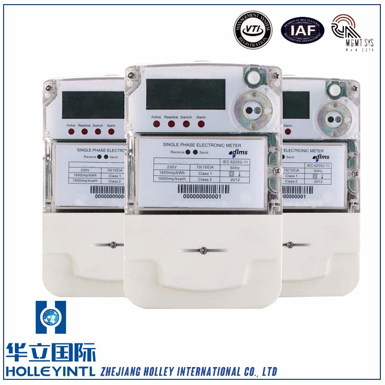 Anti-tampering. Case open detection and alarming Single Phase Energy Power Meter